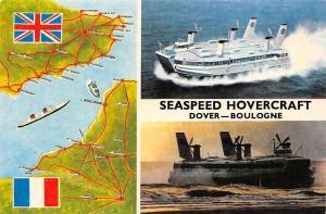 Seaspeed Hovercraft Dover - Boulogne, Map, Sea Transport Princess Margaret