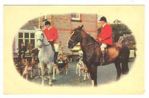 English Fox Hunters on horseback with hunting dogs, PU-1983