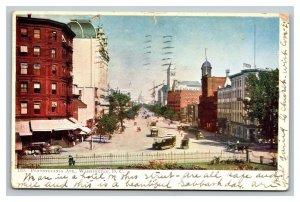 Vintage 1907 Postcard Panoramic View Pennsylvania Ave Cable Cars Washington DC