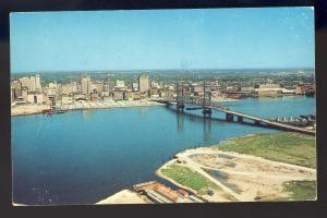 Jacksonville, Florida/FL Postcard, Main Street Bridge, City Skyline