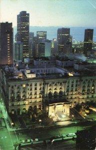 Postcard San Francisco California Fairmont Hotel