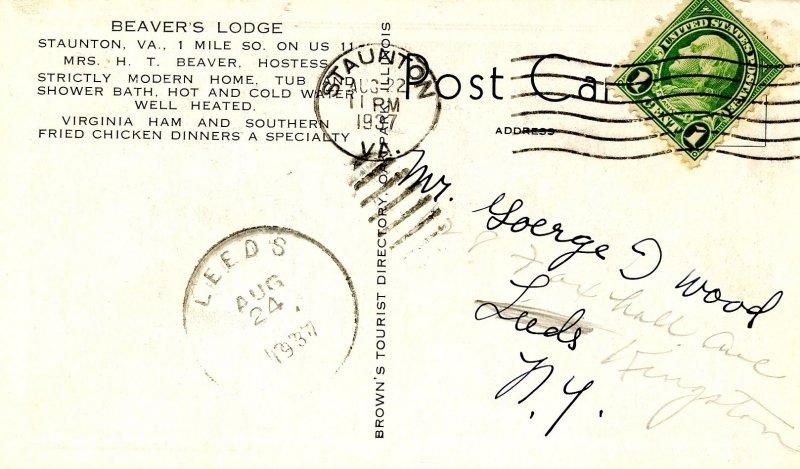 VA - Staunton. Beaver's Lodge