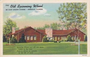 Illinois Hinsdale Old Spinning Wheel Restaurant Curteich