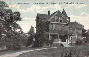 Bridgton Maine view of Tarry-a-while on the ridge antique pc Y11798