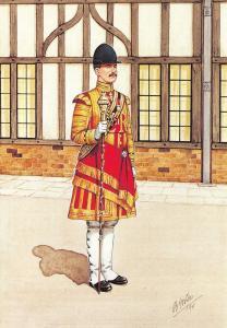 Military Art Postcard The Irish Guards, Drum Major, Windsor 1980 #30-6