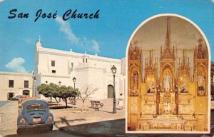 San Juan Puerto Rico San Jose Church Multiview Vintage Postcard K29129