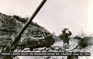 WWII - Troop-Laden Duck on Invasion Road, France