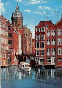 Netherlands Old Amsterdam The Little Lock Boat Bateau Bridge