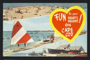 Cape Cod, Massachusetts/Mass/MA Postcard, Fun On Cape Cod Multi-View