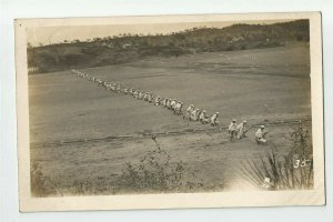 POSTCARD ~ Sailors ~US Navy ~  White Fleet ~ Circa 1908 ~ Rifle Practice ~ 35