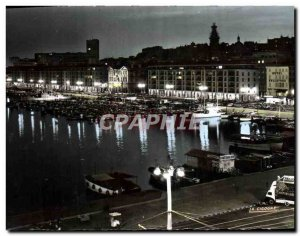 CPM Marseille Night Port Quay