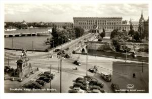 2966 Sweden Stockholm   Kungi. Slottet och Norrbro RPPC