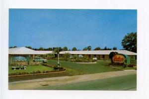 Brunswick GA Motel Old Cars Postcard