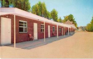 Hillsville Virginia exterior view Knob Hill Motor Court vintage pc Y15682