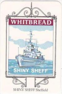 Whitbread Brewers Trade Card Maritime Inn Signs No 10 Shiny Sheff Sheffield