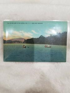 Antique Postcard Silver Lake in the Catskill Mts, NY near East Windham