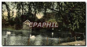 Postcard Old Birmingham The duck pond