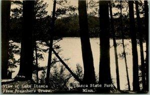 Itasca State Park, Minnesota RPPC Photo Postcard View from Preacher's Grove