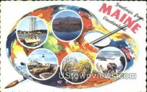 Maine Greetings from ME 1966