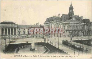 Postcard Old Tours L and L Courthouse Hotel de Ville and Place South Coast