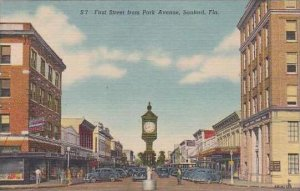 Florida Sanford First Street From Park Avenue