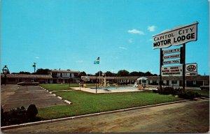 Vtg 1970s Capital City Motor Lodge Dover Delaware DE Chrome Postcard