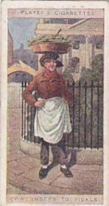 player Vintage Cigarette Card Cries Of London No 13 Cowcumbers To Pickle  1916