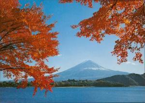 Mt. Fiji Lake Kawagughi in autumn Japan