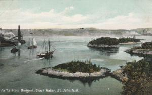 The Falls from Bridges at Slack Water - St John NB, New Brunswick, Canada