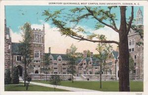 North Carolina Durham Dormitory Quadrangle West Campus Duke University 1936