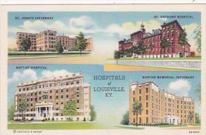 Kentucky Louisville St Joseph Infirmary Baptist Hospital St Anthony Hospital ...