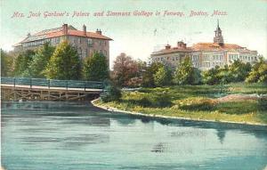 Mrs. Jack Gardner's Palace & Simmons College Boston MA 1908  UNDivided Back