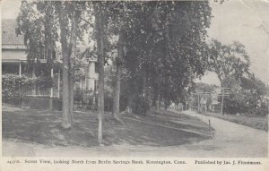 KENSINGTON,  Connecticut, PU-1910; Street View, looking North from Bank