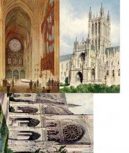 DC - Washington. Washington Cathedral, Color Arch Series (3 Card Set)
