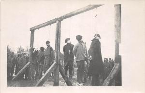 D69/ RPPC Postcard c1910 Czechoslovakia Czechs Prisoners HANGING Austria c1915
