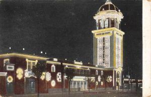 Denver Colorado Entrance White City At Night Antique Postcard K107091