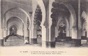 Algeria Alger La Grande Mosquee rue de la Marine Interieur