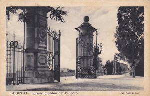 TARANTO, Ingresso giardini del Peripato, Puglis, Italy, PU-1935