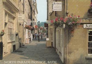 Bath Avon Linens Painters Shop Artists North Parade Postcard