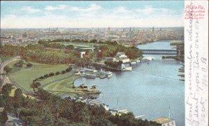Philadelphia PA - Fairmount Park seen from Lemon Hill, 1900s