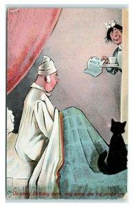 Postcard On Every Birthday Morning, May Some New Joy Awake You black cat D43