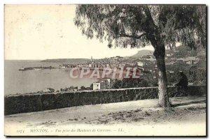 Old Postcard Menton View Caravan heights Taking