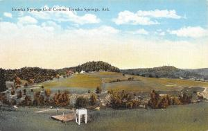 Eureka Springs Arkansas~Golf Course~Golfer on Green~Tower~Platform~1914 PC