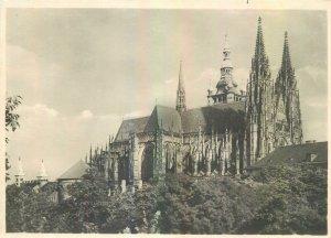 Postcard CZECH REPUBLIC Praha praga prague church architecture towers view