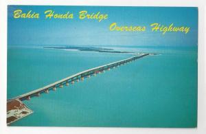 FL Overseas Highway Bahia Honda Bridge Florida Keys Postcard