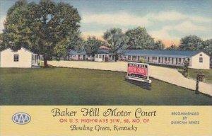 Kentucky Bowling Green Baker Hil Motor Court