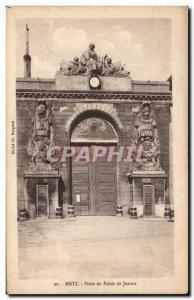Old Postcard Metz Door Courthouse