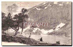Old Postcard Luchon Lake Espigno