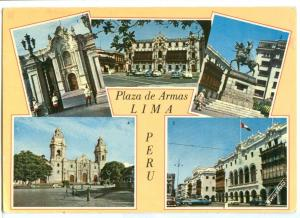 Plaza de Armas, Lima, PERU, 1972 used Postcard