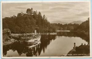 UK - Scotland, Loch Katrine, The Pier  *RPPC